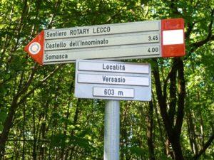 1a uscita AG - Sentiero Rotary Versasio - Vercurago @ Sentiero Rotary Versasio